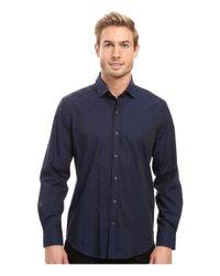 Robert Graham   Blue Deven Long Sleeve Sport Shirt for Men   Lyst