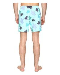 Vilebrequin - Blue Moorea Turtle Dance Swim Trunk for Men - Lyst