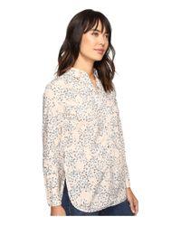 Calvin Klein Jeans | Multicolor Printed Slim Crisp Boyfriend Button Down Long Sleeve Woven Shirt | Lyst