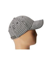 Original Penguin - Black Gingham Baseball Cap for Men - Lyst