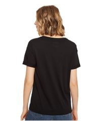 Converse Black Embroidered Box Star Easy Crew Tee