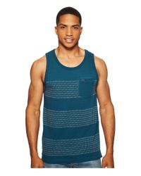 Volcom - Blue Banded Stripe Tank Top for Men - Lyst