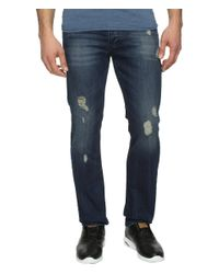 Calvin Klein Jeans | Blue Slim Fit Jeans In Abbott Kinney Destructed Wash for Men | Lyst