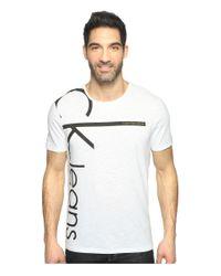 Calvin Klein Jeans | White Vertical Logo Tee for Men | Lyst