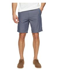"Calvin Klein Jeans | Blue Geo Chambray 9"" Shorts for Men 
