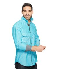 Rock And Roll Cowboy - Blue Long Sleeve Snap B2s2068 for Men - Lyst