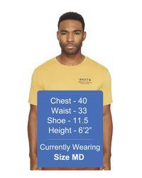 Brixton Yellow Dash Short Sleeve Premium Tee for men