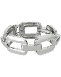 Guess | Metallic Rectangular Frozen Link Hinge Bangle | Lyst