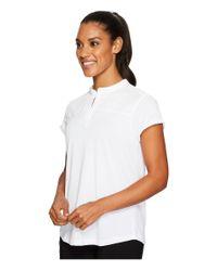 Under Armour White Mandarin Jacquard Polo Shirt