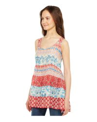 Johnny Was - Blue Archi Tier Tank Top - Lyst