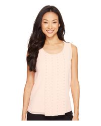 Calvin Klein   Natural Sleeveless Top With Stud Detail   Lyst