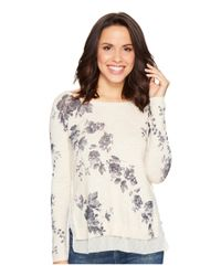 Lucky Brand | Natural Placed Floral Pullover Sweater | Lyst