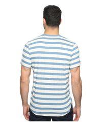 Kenneth Cole - Blue Short Sleeve Dressy Henley for Men - Lyst