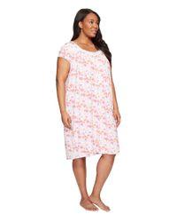 Eileen West Pink Plus Size Modal Spandex Waltz Nightgown