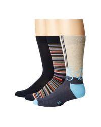 Hue   Blue Bike Socks With Half Cushion 3-pack for Men   Lyst