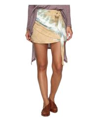 Free People | Multicolor When The Tide Turns Mini Skirt | Lyst