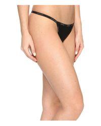 Calvin Klein - Black Sheer Marquisette String Thong - Lyst