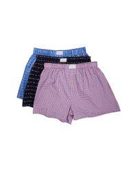 Tommy Hilfiger | Blue Woven Boxer 3-pack for Men | Lyst