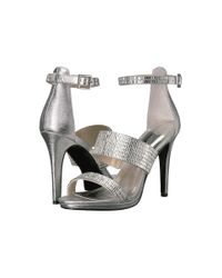 Caparros I-star (silver Metallic Fabric) High Heels