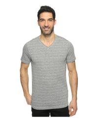 Agave   Gray Hal Short Sleeve V-neck Tri-blend Jersey Stripe Block for Men   Lyst