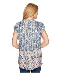 NIC+ZOE Blue Surfside Top (multi) Clothing