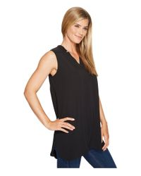 NIC+ZOE Forget Me Not Top (black Onyx) Clothing