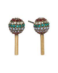 Marc Jacobs | Metallic Lollipop Studs Earrings | Lyst