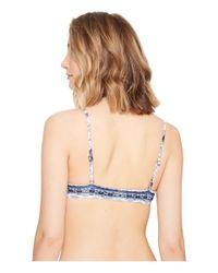 Rip Curl - Blue Native Heart Bralette Bikini Top - Lyst