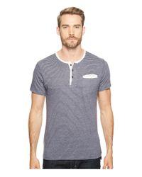 Alternative Apparel | Gray Eco Jersey Yarn-dye Stripe Offshore Henley for Men | Lyst
