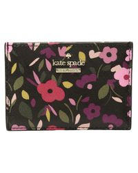 Kate Spade - Multicolor Cameron Street Boho Floral Card Holder - Lyst