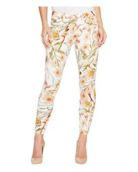 7 For All Mankind Multicolor The Ankle Skinny Jeans In Tropical Print