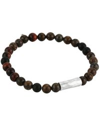 Chan Luu | Metallic Sterling Silver Stretch Bracelet W/ Semi Precious Stones | Lyst