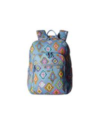 Vera Bradley Blue Iconic Deluxe Campus Backpack