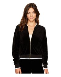 Juicy Couture Black Velour Ruched Sleeve Jacket