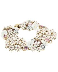 Betsey Johnson Multicolor Flower Cluster Bracelet