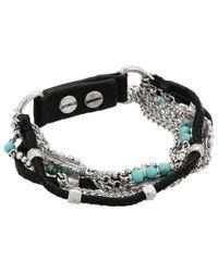 Lucky Brand - Metallic Turquoise Layer Bracelet - Lyst