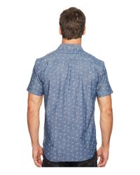 Lucky Brand Blue Short Sleeve Ballona Shirt for men