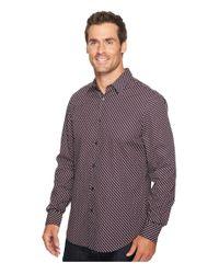 Perry Ellis Purple Optical Mini-ribbon Stripe Shirt for men