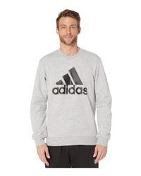 Adidas Gray Must Have Badge Of Sport Fleece Crew for men