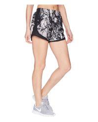 Nike Black Dry Tempo Print Shorts