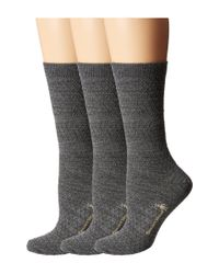 Smartwool Gray Texture Crew 3-pack