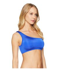 Seafolly Flashback Stella One Shoulder Top (blue Ray) Swimwear