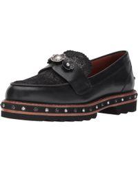 COACH Black Lenox Stud Loafer