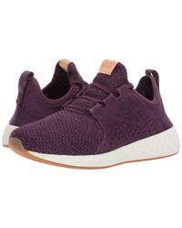 New Balance Purple Fresh Foam Cruz V1 (thistle/arctic Sky) Women's Running Shoes