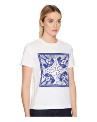 Paul Smith Blue Dog T-shirt (white/navy) Women's T Shirt