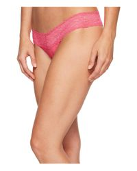 Hanky Panky Pink Signature Lace Low Rise Thong