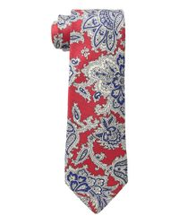 Etro Red Paisley Tie for men