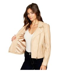 Blank NYC Natural Vegan Leather Moto Jacket (going In Circles) Women's Coat