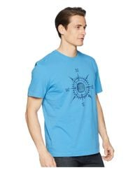 Life Is Good. Blue Lig Compass Crusher Tee for men