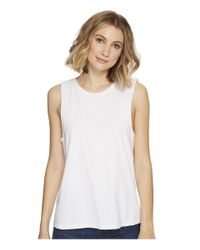 Richer Poorer White Muscle Tank Top